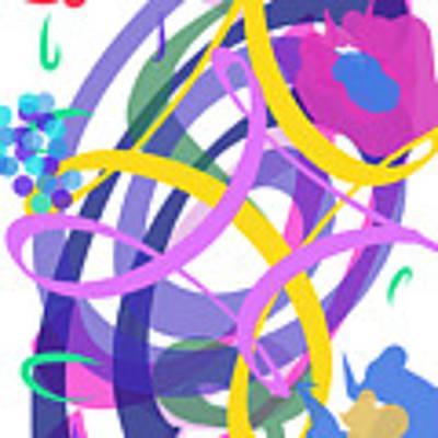 Abstract Garden #2 Art Print by Bee-Bee Deigner