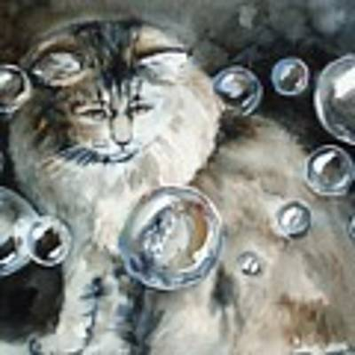Adelaide And Bubbles Art Print by Jane Loveall