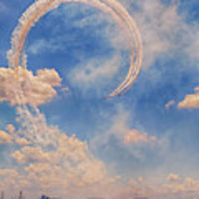 Airshow At The Lou Art Print by Susan Rissi Tregoning