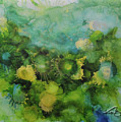 Alcohol Ink 1 Art Print by Kate Word