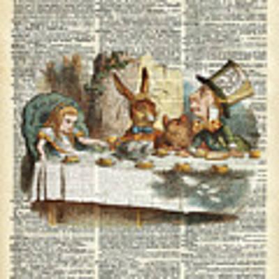 Alice Morning Tea Time Art Print