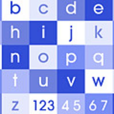 Alphabet Blue Art Print
