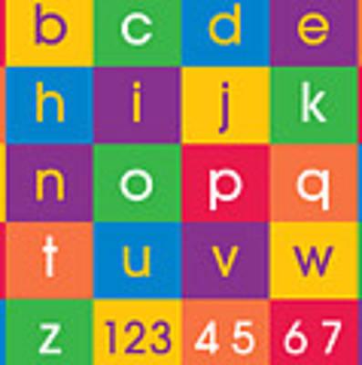 Alphabet Colors Art Print