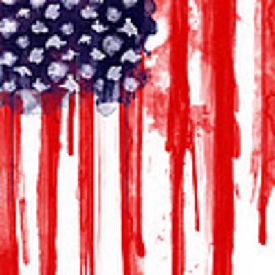 American Spatter Flag Art Print