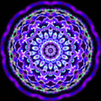 Ammersee Cropcircle Lightmandala Morph Art Print by Robert Thalmeier