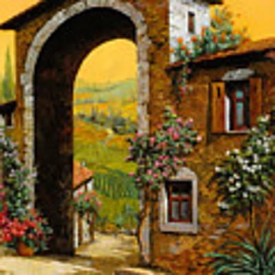 Arco Di Paese Art Print by Guido Borelli