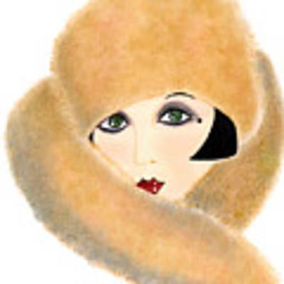 Art Deco Lady - Vivian Art Print by Di Kaye