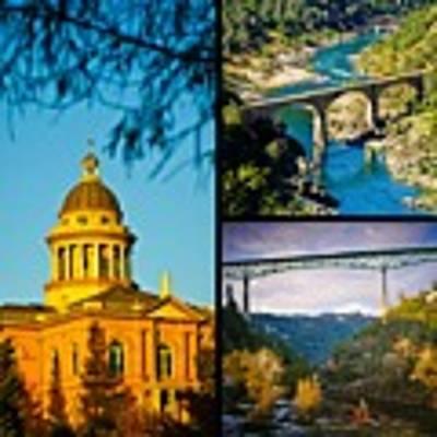 Auburn California Triptych 2 Art Print by Sherri Meyer