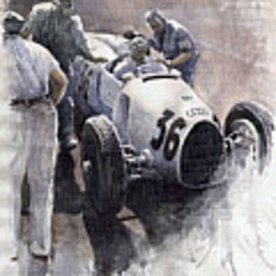 Auto Union B Type 1935 Italian Gp Monza B Rosermeyer Art Print