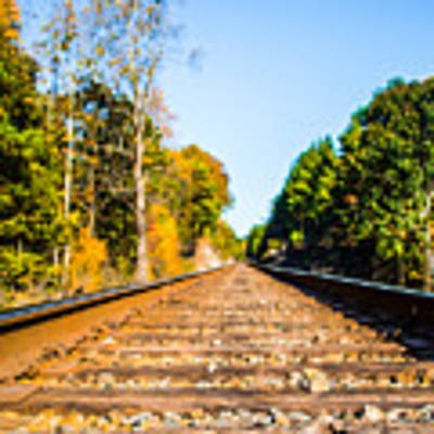 Autumn On The Railroad Art Print by Parker Cunningham