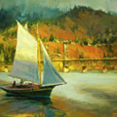 Autumn Sail Art Print by Steve Henderson