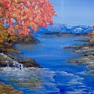 Autumn Art Print by Saundra Johnson