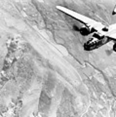 B-25 Bomber Over Germany Art Print