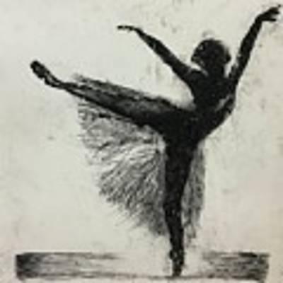 Ballerina Art Print by Rebecca Davidson