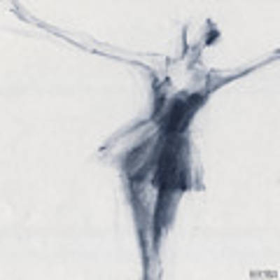 Ballet Sketch Dying Swan Art Print by Beverly Brown