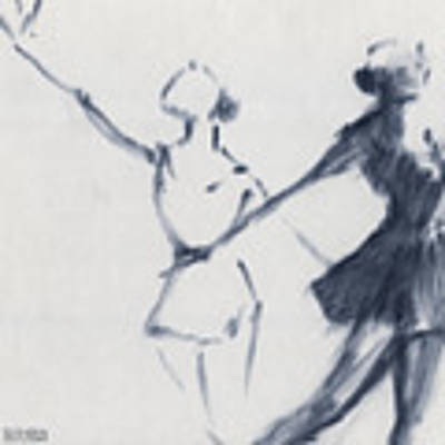 Ballet Sketch Two Dancers Mirror Image Art Print by Beverly Brown