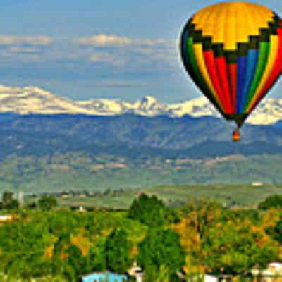 Ballooning Over The Rockies Art Print by Scott Mahon