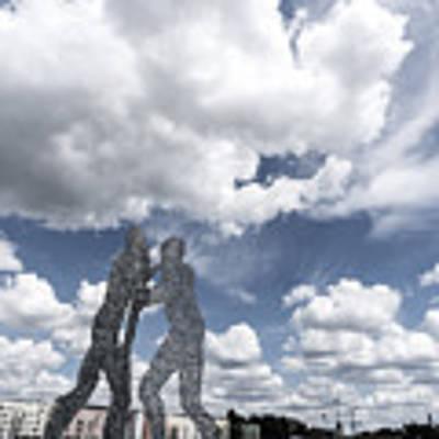 Berlin Molecule Men Spree Art Print by Juergen Held
