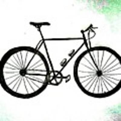 Bicycle Abstract Sketch Original by Scott D Van Osdol