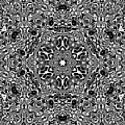 Black And White Mandala 34 Art Print by Robert Thalmeier