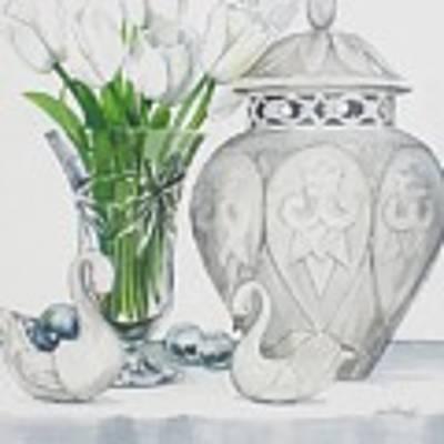Blanc De Blanc Art Print by Jane Loveall