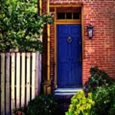 Blue Door, Baltimore Art Print by RC DeWinter