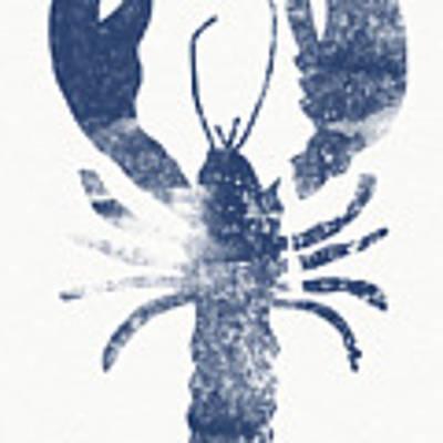 Blue Lobster- Art By Linda Woods Art Print by Linda Woods