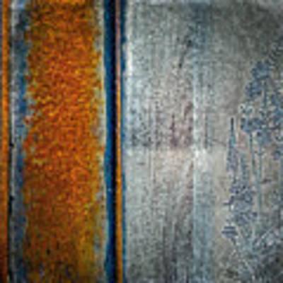 Blue Rust Art Print by Lita Kelley