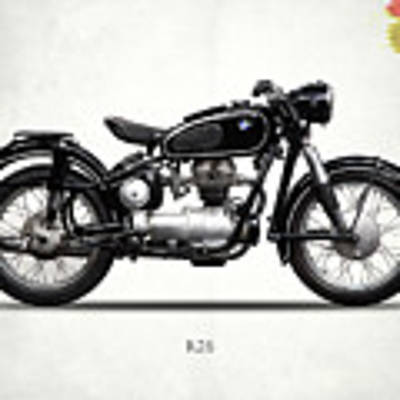 The R26 Motorcycle Art Print by Mark Rogan