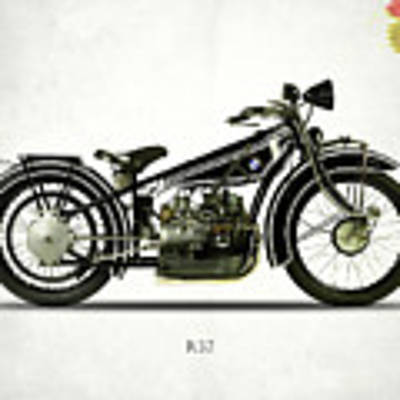 The R32 Motorcycle Art Print by Mark Rogan