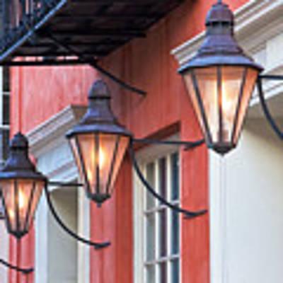 Broad Street Lantern - Charleston Sc  Art Print
