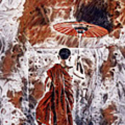 Buddhist Monk Art Print by Lita Kelley