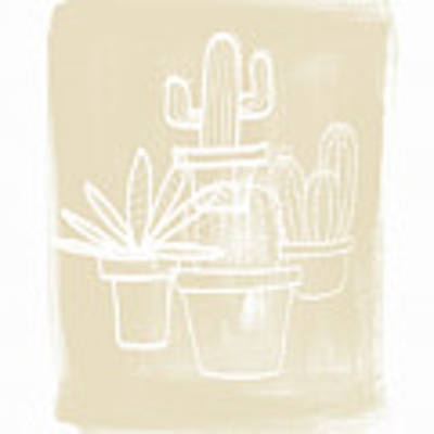 Cactus In Pots- Art By Linda Woods Art Print by Linda Woods