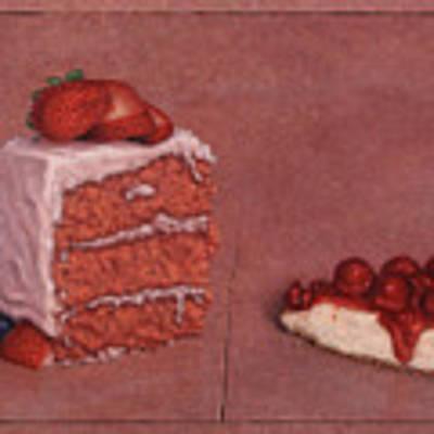 Cakefrontation Art Print by James W Johnson