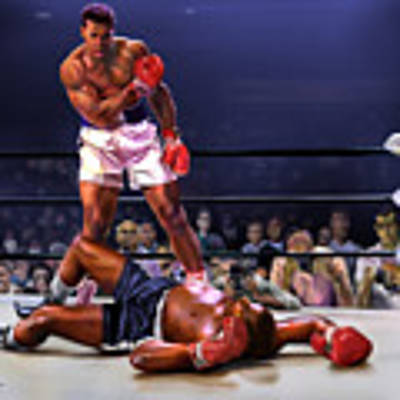 Cassius Clay Vs Sonny Liston Original by Reggie Duffie