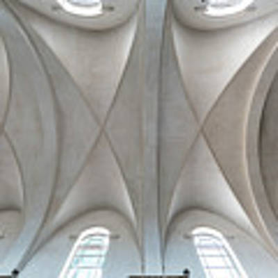 Catedral De La Purisima Concepcion Ceiling Art Print by Lou Novick
