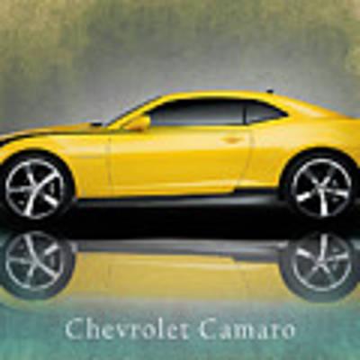 Chevrolet Camaro Art Print by Mark Rogan