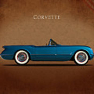 Chevrolet Corvette 1954 Art Print