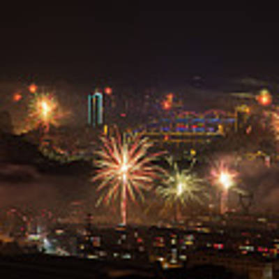 Chinese New Year Fireworks 2018 I Art Print by William Dickman