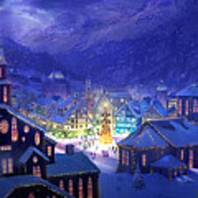 Christmas Town Art Print