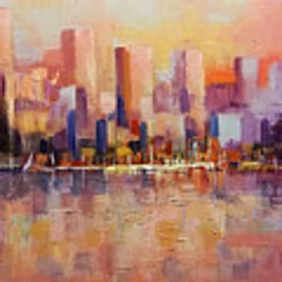 Cityscape 2 Art Print by Rosario Piazza