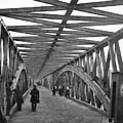 Civil War - Chain Bridge Art Print by William Morris Smith
