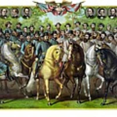 Civil War Generals And Statesman Art Print