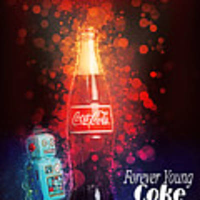Coca-cola Forever Young 15 Art Print by James Sage