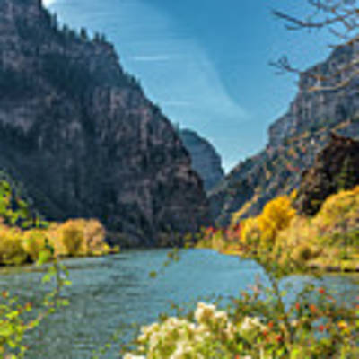 Colorado River And Glenwood Canyon Art Print by Jemmy Archer