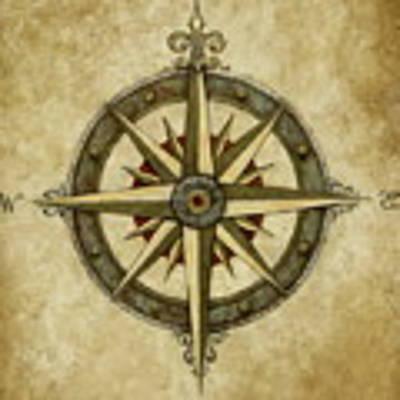 Compass Rose Original by Judy Merrell