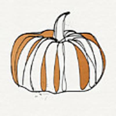 Contemporary Pumpkin- Art By Linda Woods Art Print