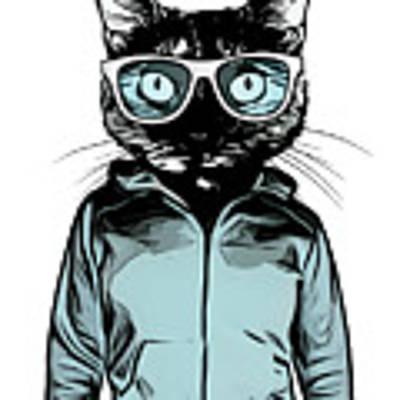 Cool Cat Art Print by Nicklas Gustafsson