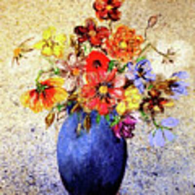 Cornucopia-still Life Painting By V.kelly Art Print by Valerie Anne Kelly