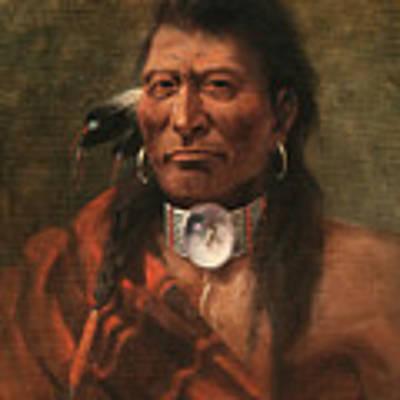 Cree Chief Art Print by Edgar S Paxson